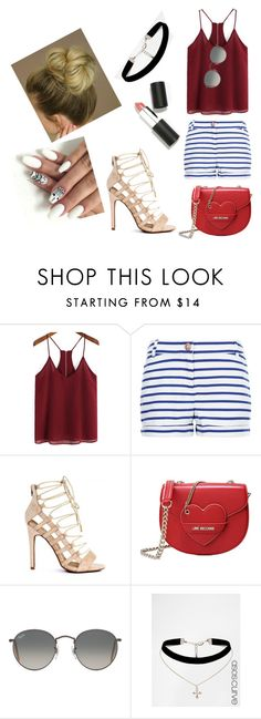 """""""Untitled #17"""" by seprolysvette on Polyvore featuring Petit Bateau, Love Moschino, Ray-Ban, ASOS and Sigma Beauty"""