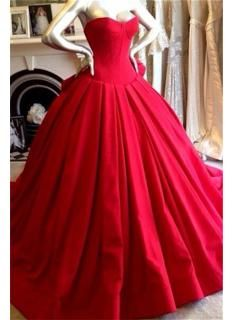 Red Sweetheart Charming Prom Dress Fashional Glorious 2017 Wedding Dress