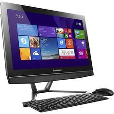 f9d991ca56f Shop Lenovo TouchScreen AllInOne Computer Intel Pentium Memory Hard Drive  Black at Best Buy.