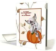 Other Personalization card: Great Granddaughters 1st Halloween-Custom Card