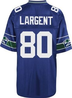 Seattle Seahawks Steve Largent Throwback Premier Blue Jersey Mitchell & Ness. $139.95