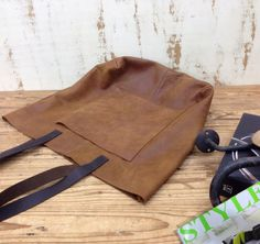 Sale!!! Distressed brown Leather tote bag Soft Large Brown Leather Tote leather market bag External pocket - Optional crossbody strap by plgdesigns. Explore more products on http://plgdesigns.etsy.com