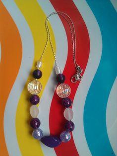 "Vintage Lucite Beaded Necklace: ""Purple Rain"" ($28)"