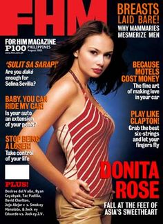 Donita Rose Filipina Beauty, Magazine Man, Pinoy, Covergirl, Asian Woman, Philippines, Beautiful People, Oriental, Breast
