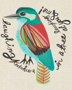 Treetop Shenanigans giclee art print from inaluxe Illustrations, Illustration Art, Creative Review, You Draw, Art Design, Bird Art, Beautiful Birds, Street Art, Art Prints