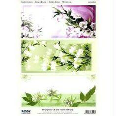 Carte 3D prédécoupée - Fleurs blanches 21 x 29,7 cm
