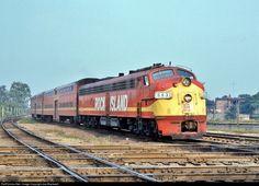 RailPictures.Net Photo: CRIP 663 Rock Island EMD E8(A) at Joliet, Illinois by Joe Blackwell