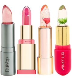 See-Through lip treatments/lip balms from duwop, clarins, kailijumei, winky lux Crystal Lips, Beauty Hacks Nails, Tom Ford Makeup, Daily Beauty Routine, Best Makeup Products, Beauty Products, Lip Products, Lip Care, Body Care