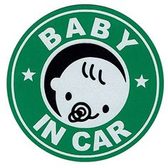 赤ちゃん乗ってます 12cm マグネットステッカー デザインステッカー(BABY IN CAR)