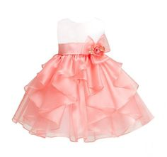 Flavor Supply Baby Flower Girls Floral Embroidered Christening Baptism Formal Ball Gown Dress Fragrant In