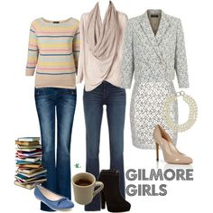 My creation inspired by three generations of Gilmore Girls from the 2000-2007 comedy drama.