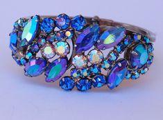 Juliana Rhinestone Clamper Bracelet Earring Set #Juliana
