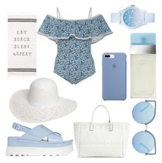 """""""Beach Please"""" by amber-lanehart ❤ liked on Polyvore featuring Karla Colletto, Melissa Odabash, Matthew Williamson, Miu Miu, Dorothy Perkins, Dolce&Gabbana, Lacoste and BeachPlease"""
