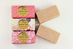 Cold Process Handmade Vegan Soap Bar Rose by TheScentedTree