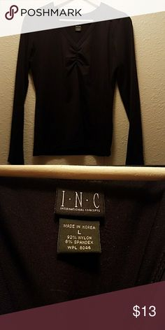 INC long sleeve shirt I have a silky material long sleeve shirt excellent condition like new INC International Concepts Tops Tees - Long Sleeve