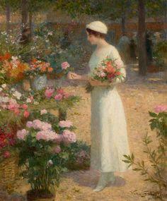 Victor Gabriel Gilbert - At the Flower Market