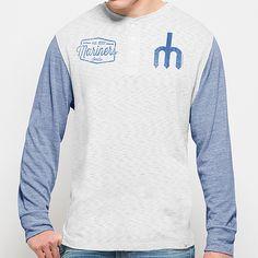 ac2127c61 Men s Seattle Mariners  47 Brand Gray Tri-State Tri-Blend Henley Long  Sleeve T-Shirt