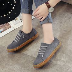 online store 8e4f6 50530 Suede Slip On Soft Loafers Lazy Casual Flat Shoes For Women Zapatillas,  Botas, Tacones