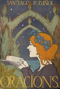 Color lithograph by Miquel Utrillo, 1897 (art nouveau poster) Retro Poster, Vintage Posters, Canvas Art, Canvas Prints, Art Prints, French Vintage, Vintage Art, Vintage Prints, Art Nouveau Poster