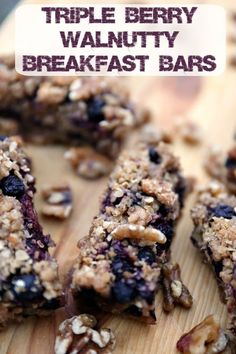 Love breakfast? Want a unique twist on the much loved breakfast cereal bars? Check out the Triple Berry Walnutty Cereal Bars Recipe.#ad #jbbb /cawalnuts/