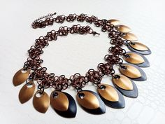 Scalemaille necklace by MercysFancy on Etsy