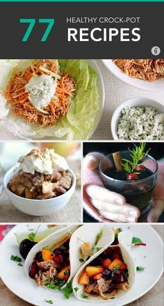 Healthy, delicious, and easy recipes straight from the crock-pot! #healthy #crockpot #slowcooker #recipes