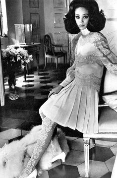 Marisa Berenson in Valentino, photo by Henry Clarke for Vogue, 1968