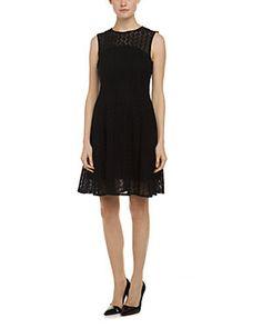 Nanette Lepore Fool For Love Black Lace Fit & Flare Dress