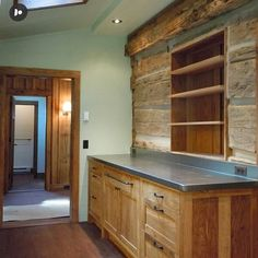 Throwback to this beautiful completed project. The natural stain on solid wood really warms up this space. Custom Woodworking, Custom Cabinets, Blue Ridge, Asheville, New Construction, Solid Wood, Warm, Interior Design, Space