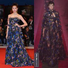Who: Hikari Mori Wearing: Gucci Spring 2017 RTW Where: 2017 Venice Film Festival 📸Getty