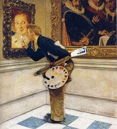 1955 - the art critic - Norman Rockwell