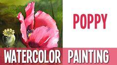 Watercolor Painting Tutorial - Poppy