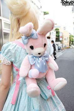 Angelic Pretty Lyrical Bunny Backpack♥ ロリータ, sweet lolita, fairy kei, decora, lolita, loli, gothic lolita, pastel goth, kawaii, fashion, victorian, rococo, wa-lolita♥