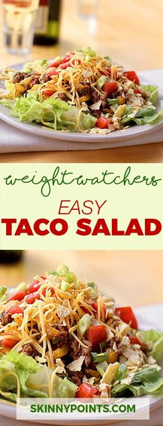 Easy Taco Salad - Weight Watchers FreeStyle Smart Points Friendly