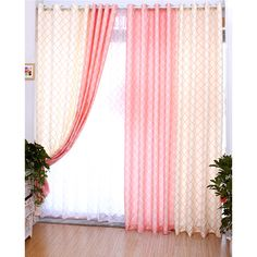 Young Style Pink Plaid Curtain For Bedroom. Beautiful pink color looks pretty, has plaid pattern with good print craft and used thick polyester and cotton blend fabric. Plaid Curtains, Rustic Curtains, Blue Curtains, Window Curtains, Curtains Pictures, Double Rod Curtains, Oak Color, Living Room Windows, Plaid Pattern