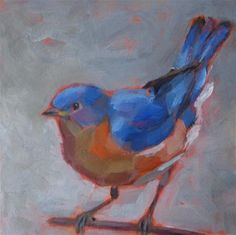 Bluebird on a branch - Maria Z.
