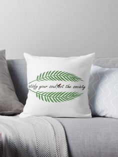 """Tropical green leaf "" Throw Pillow by Big Leaves, Green Leaves, Tropical, Throw Pillows, Prints, Design, Toss Pillows, Cushions"