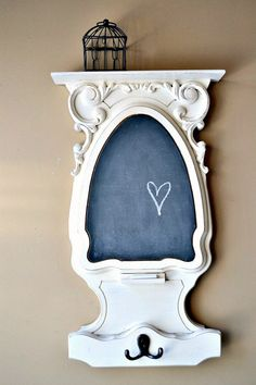 Repurposed Table Into a Chalkboard