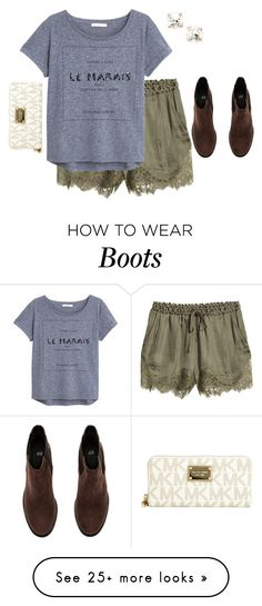"""""""A is for ankle boots"""" by kvonhoffmann on Polyvore featuring H&M, MANGO, Kate Spade and MICHAEL Michael Kors"""
