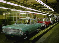 Opel Rekord A assembly line