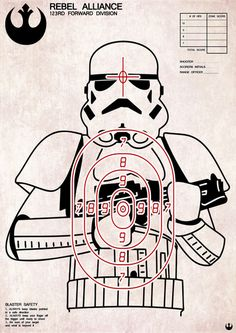 A little intergalactic target practice!! Oh, snaps! The dudes could use these for BB gun or bow & arrow targets!