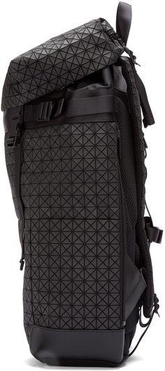 Bao Bao Issey Miyake Black Geometric Matte Hiker Backpack