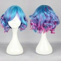I think you'll like Lolita Mixed Blue Women's Girl's Short Curly Wavy Full Wig Cosplay Hair Anime. Add it to your wishlist!  http://www.wish.com/c/54a3a3483b64454818a71493