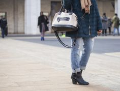 Wear Now - ripped jeans New York Fashion Week: Day 1 Street Style