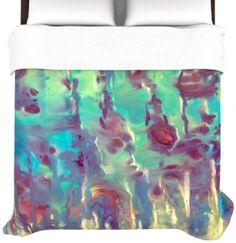 Amazon.com - Kess InHouse Rosie Brown Splash 88 by 88-Inch Duvet Cover, Queen