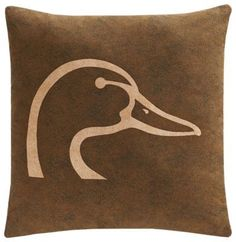 Ducks Unlimited Plaid Collection Square Throw Pillow - Brown