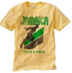 JAMAICA TRACK AND FIELD URBAN PIPELINE YELLOW MENS ADULT T-SHIRT BNWT