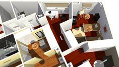 VIV.A vista de detalle de dormitorio secundario y despacho