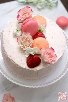 Try this Strawberry Pink Velvet Cake! Yum!