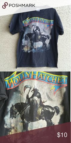 Vintage reproduction Molly Hatchet tee Made to look vintage Molly Hatchet tee. Size L Cygnus Shirts Tees - Short Sleeve